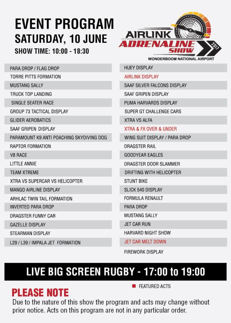 show day info adrenaline show